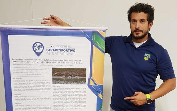 Guilherme Soares, técnico de para-remo da CBR, apresentou seu trabalho no Congresso
