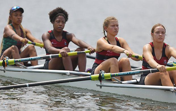 O barco formado pelas atletas Ana Ferreira, Helen Belony, Shaiane Ucker e Maria Fuhrmann ficou com o ouro no Quatro Sem Feminino Júnior